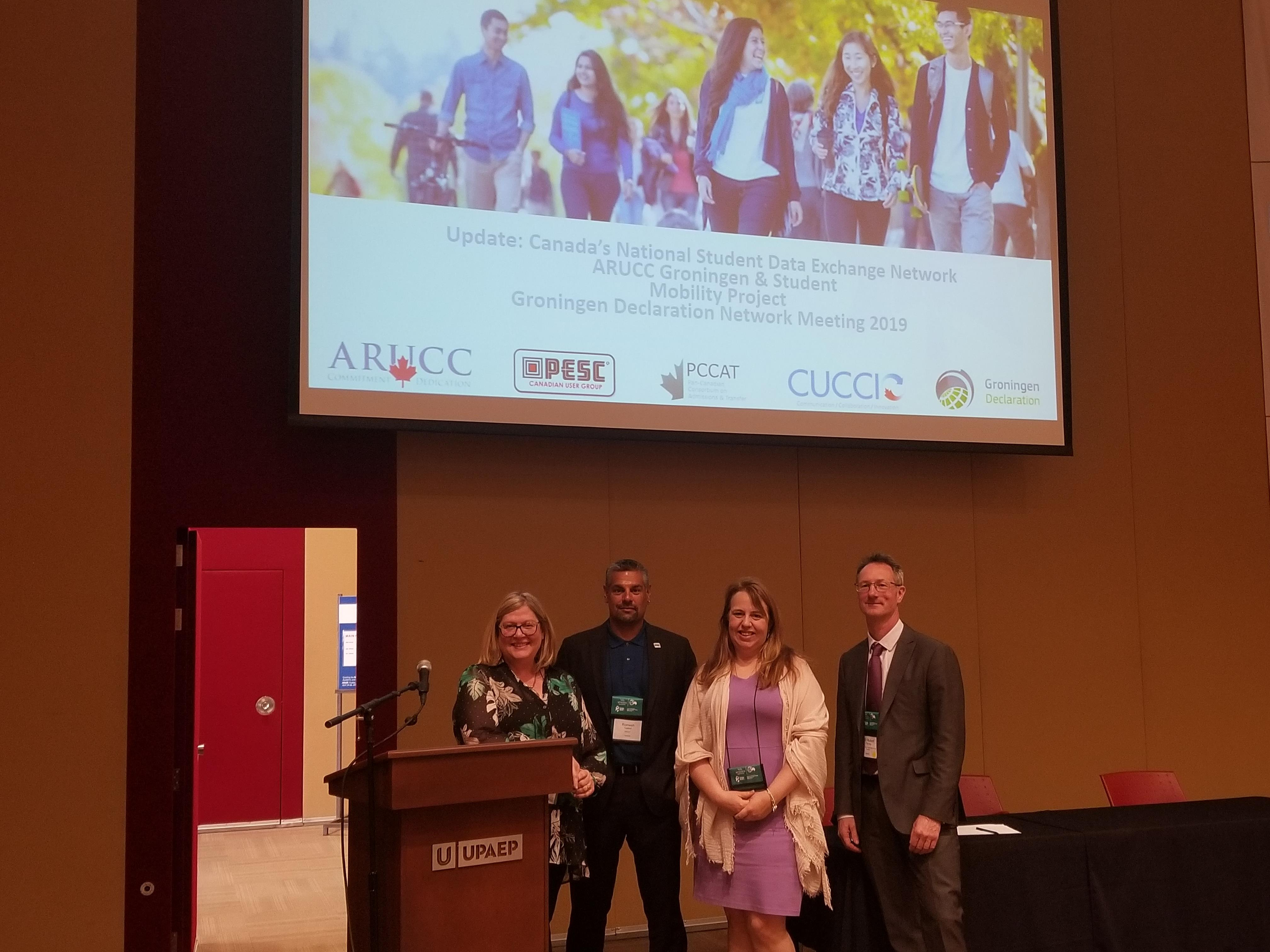 GDN 2019 Session presenters 2019 (L-R): Charmaine Hack, Romesh Vadivel, Julie Green, Rob Fleming